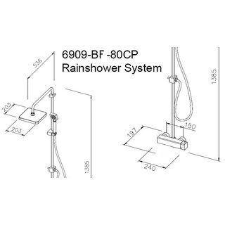 Rainshower Duschset - Mark I Serie