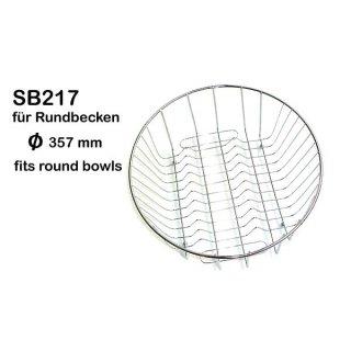 Geschirrkorb aus Edelstahl - Ø 357 mm
