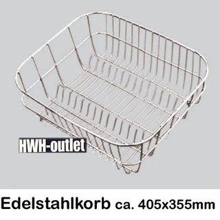 Geschirrkorb aus Edelstahl - 405 x 355 mm