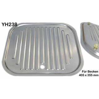 Edelstahl Tablett 405 x 355 mm