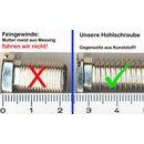 Hohlraumschraube für Exzenter Siebkorbventile - verschiedene Längen
