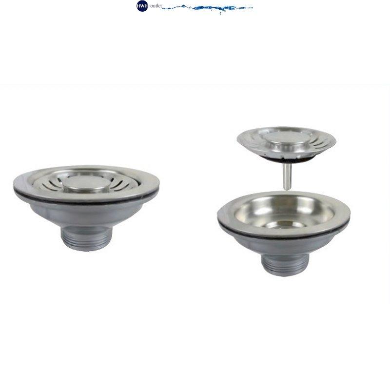 Edelstahl PP-Kunststoff 3,5 Zoll Ablaufkorb mit Ventil und Überlauf