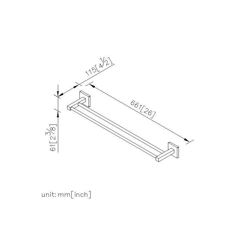 badserie quadrat badetuchhalter duo 60 cm 59 90. Black Bedroom Furniture Sets. Home Design Ideas
